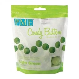 View the Light Green Candy Buttons Melts chocolate 340g online at Cake Stuff