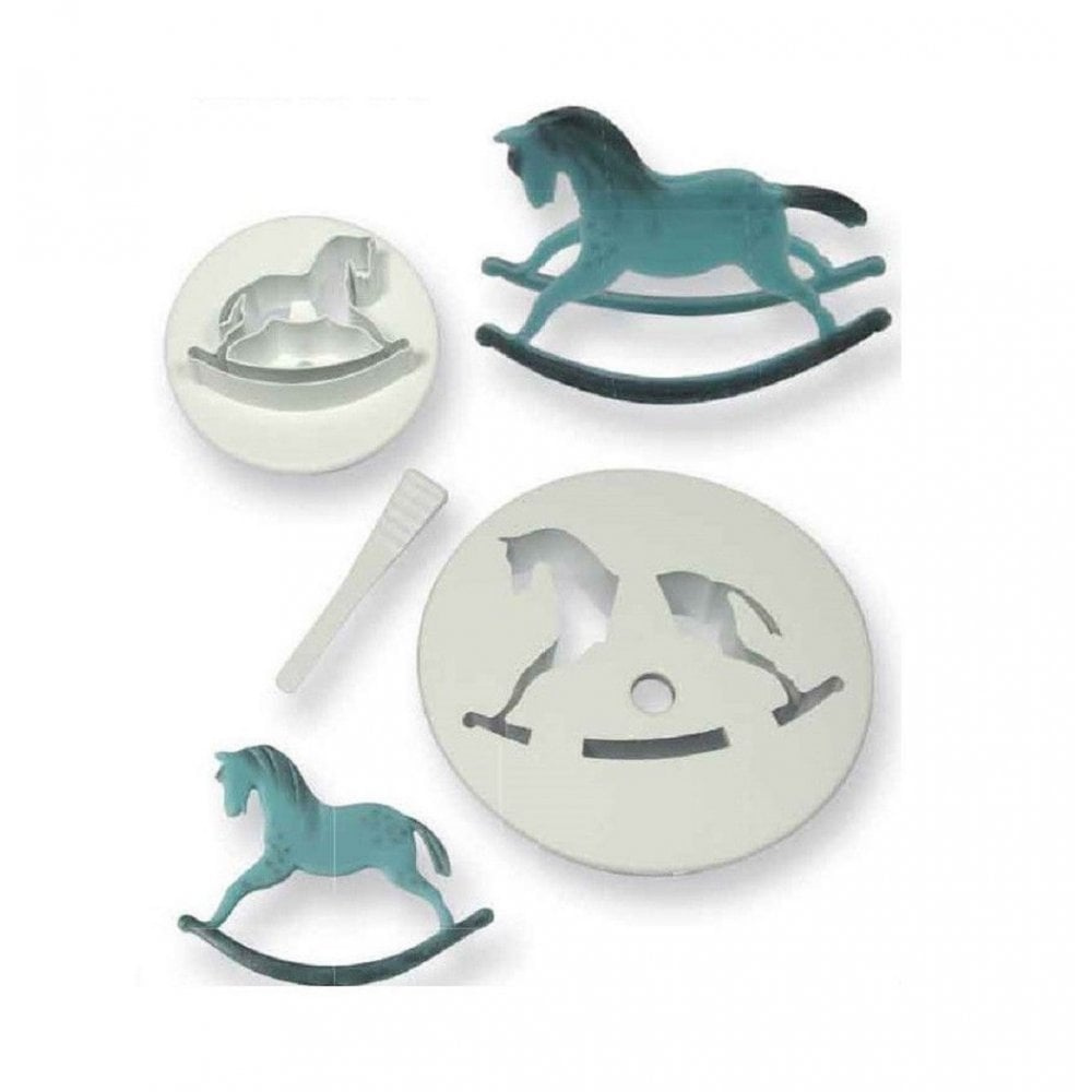 View the Rocking Horse 3 piece icing cutter set online at Cake Stuff