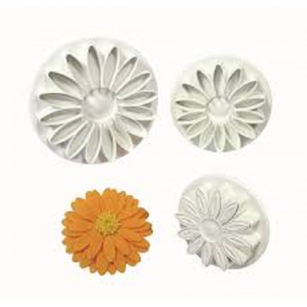 View the Sunflower / Gerbera / Daisy 3 pc plunger icing cutter set online at Cake Stuff