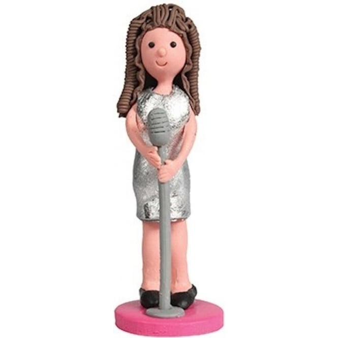 View the *CLEARANCE* POP STAR GIRL claydough cake topper decoration online at Cake Stuff