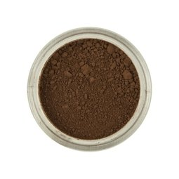 View the CHOCOLATE BROWN 100% edible Powder Colour icing dust colouring 4g online at Cake Stuff