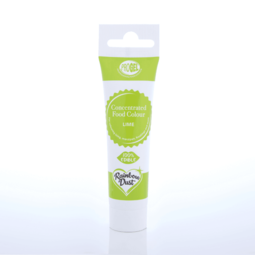 View the LIME GREEN ProGel concentrated paste gel icing / food colouring 25g online at Cake Stuff