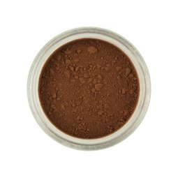 View the MILK CHOCOLATE Brown Powder Colour 100% edible dust icing colouring 2g online at Cake Stuff
