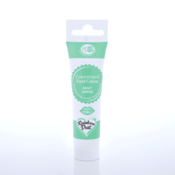 View the MINT GREEN ProGel concentrated paste gel icing / food colouring 25g online at Cake Stuff