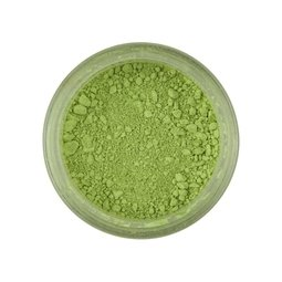 View the PALE PEAR Light Green Powder Colour 100% edible dust icing colouring 4g online at Cake Stuff