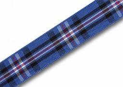 View the  Rangers (RFC) 16mm Scottish tartan plaid ribbon x 25m reel online at Cake Stuff