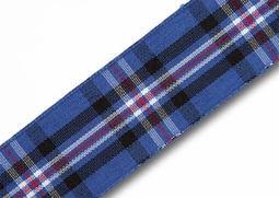 View the  Rangers (RFC) 25mm Scottish tartan plaid ribbon x 25m reel online at Cake Stuff