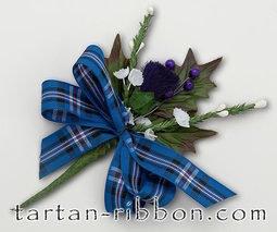 View the Rangers (RFC) tartan ribbon buttonhole / cake spray online at Cake Stuff