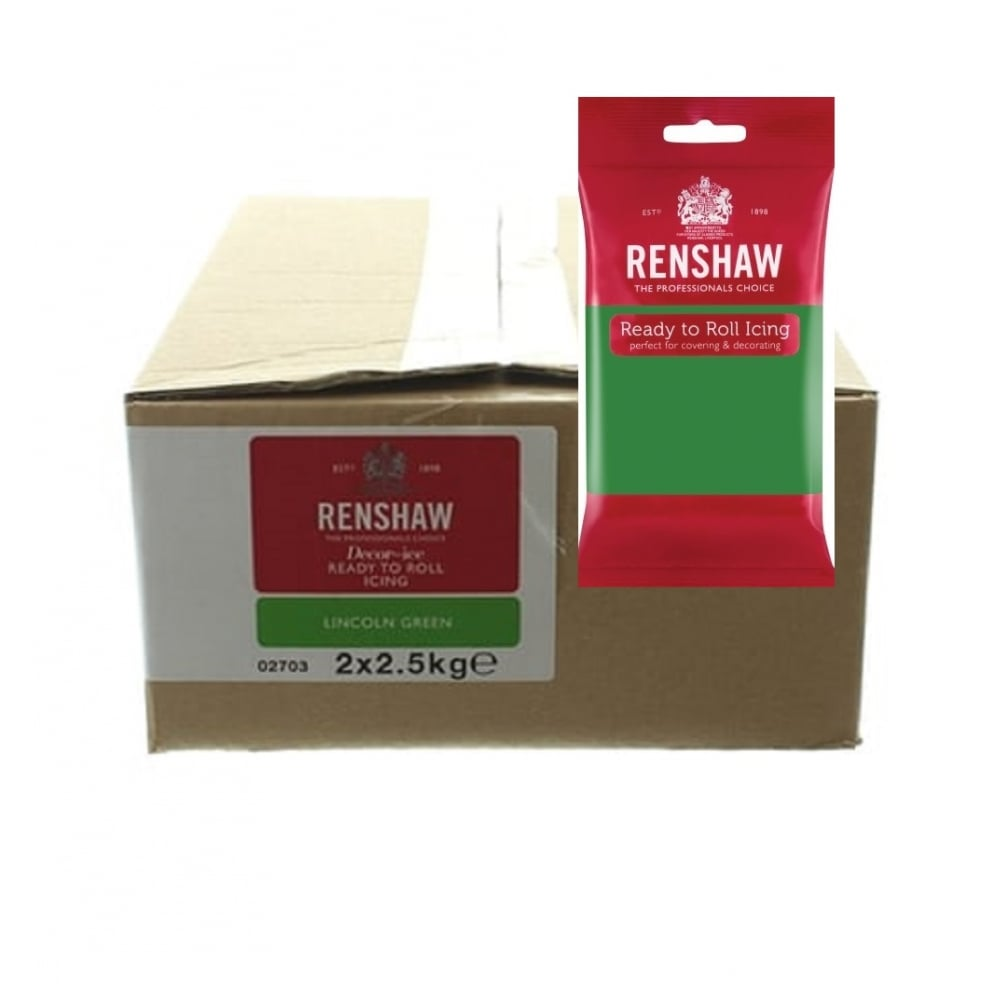 View the 2.5kg LINCOLN GREEN professional Regalice Decor-Ice sugarpaste icing online at Cake Stuff