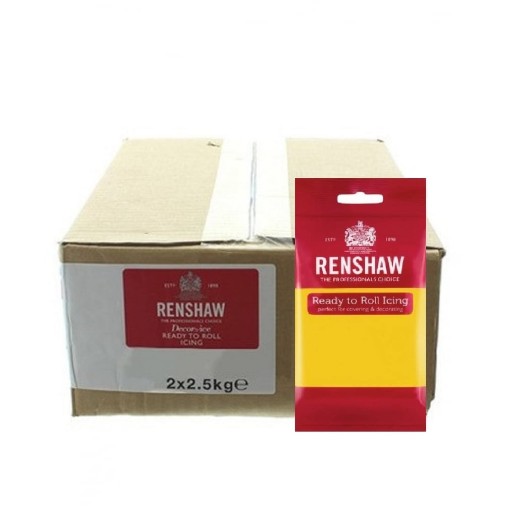 View the 2.5kg Yellow professional Regalice Decor-Ice sugarpaste icing online at Cake Stuff