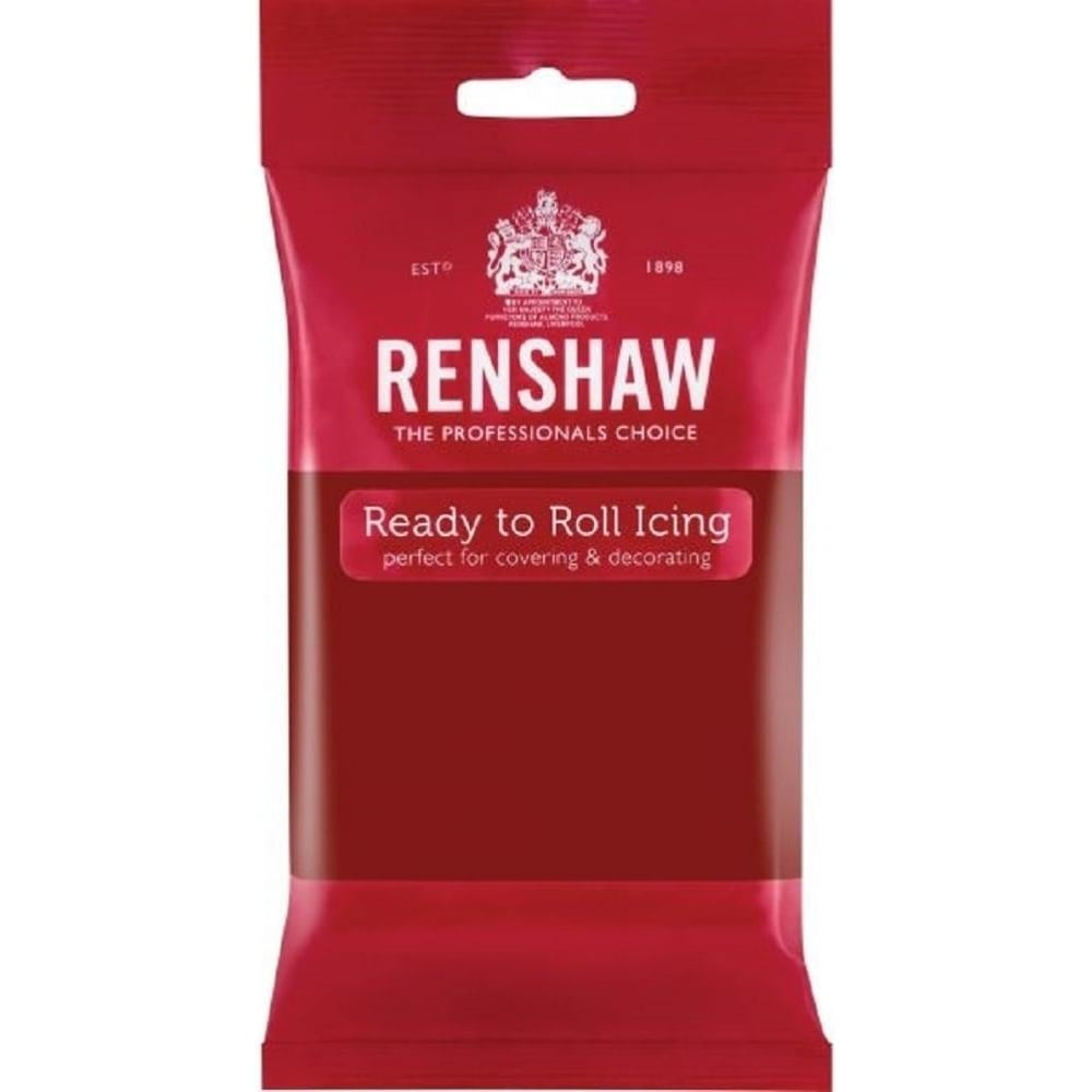 View the 250g Ruby Red professional Regalice Decor-Ice sugarpaste ready to roll icing online at Cake Stuff