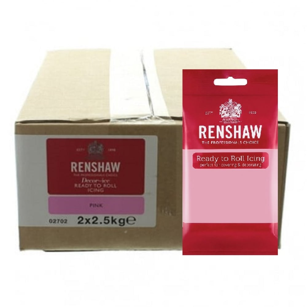 View the 5kg Pink professional Regalice Decor-Ice sugarpaste icing online at Cake Stuff