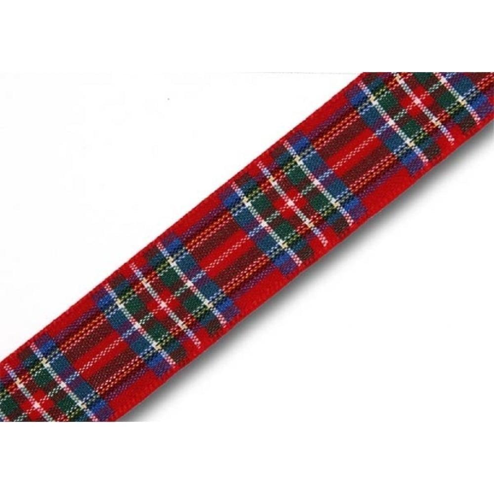 View the Royal Stewart 16mm Scottish tartan plaid ribbon x 5m pack online at Cake Stuff