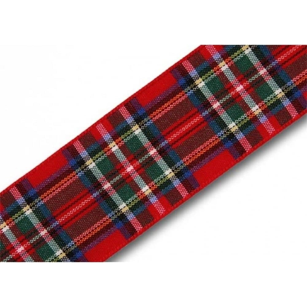 View the Royal Stewart 25mm Scottish tartan plaid ribbon x 25m reel online at Cake Stuff