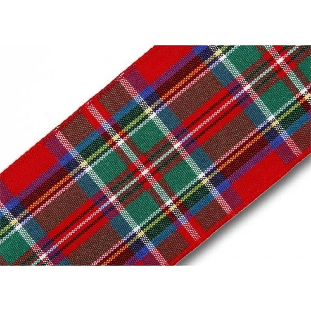 View the Royal Stewart 40mm Scottish tartan plaid ribbon x 25m reel online at Cake Stuff