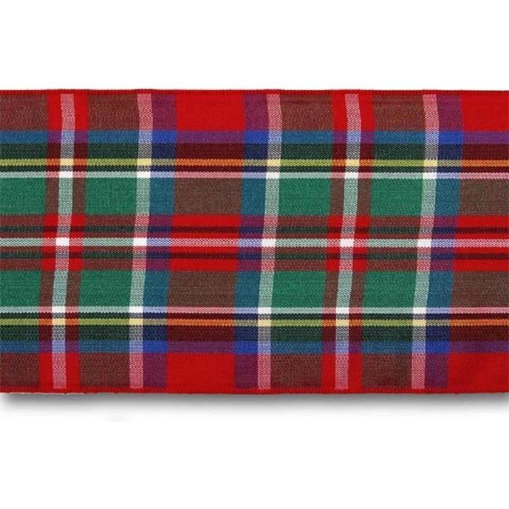 View the Royal Stewart 70mm Scottish tartan plaid ribbon x 25m reel online at Cake Stuff