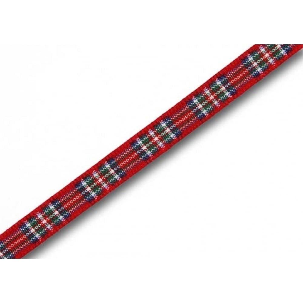 View the Royal Stewart 7mm Scottish tartan plaid ribbon x 5m pack online at Cake Stuff