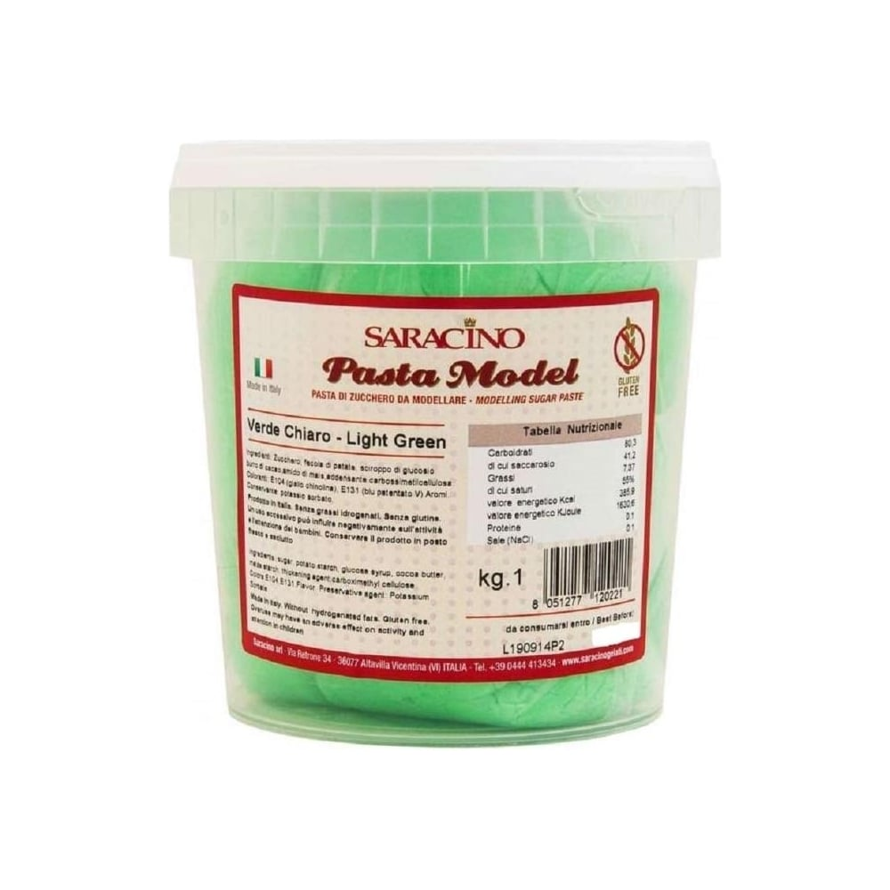 View the 1kg LIGHT GREEN Sugar Modelling Paste online at Cake Stuff