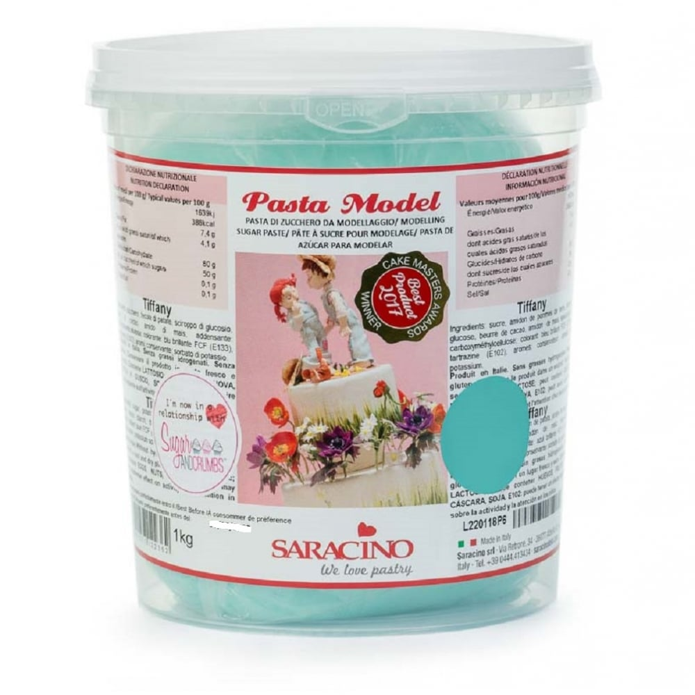 View the 1kg TIFFANY BLUE Sugar Modelling Paste online at Cake Stuff