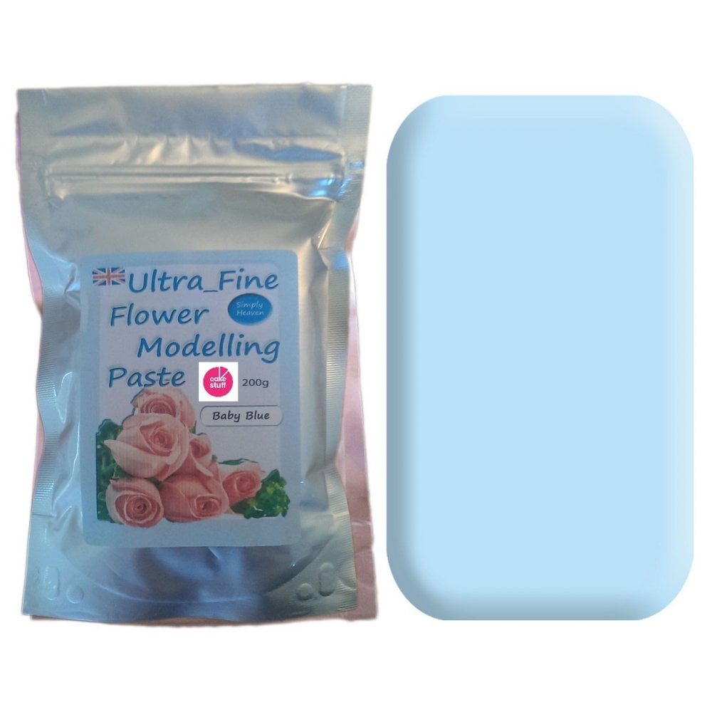 View the 200g BABY BLUE Ultra Fine Sugar Flower Modelling Paste online at Cake Stuff