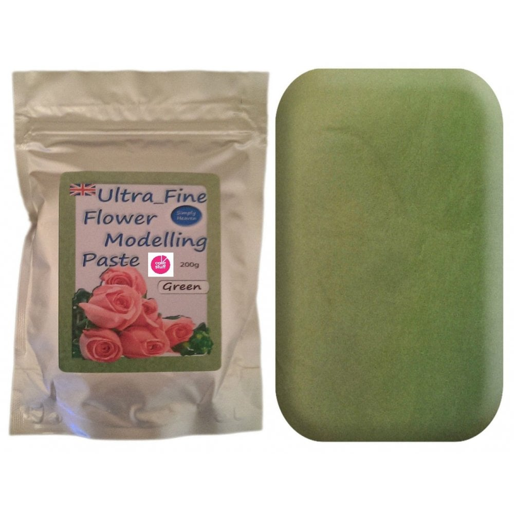 View the 200g GREEN Ultra Fine Sugar Flower Modelling Paste online at Cake Stuff
