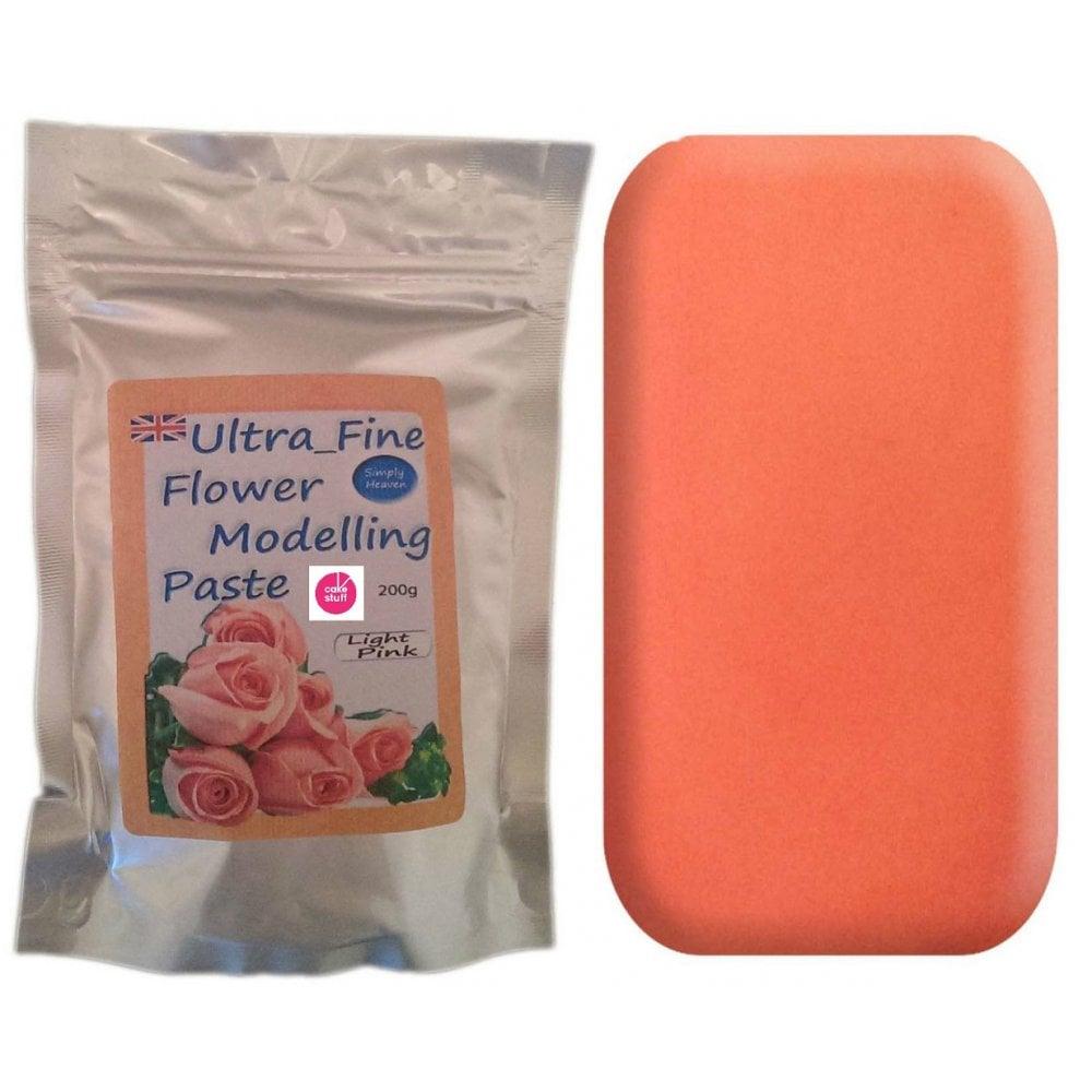View the 200g LIGHT PINK Ultra Fine Sugar Flower Modelling Paste online at Cake Stuff