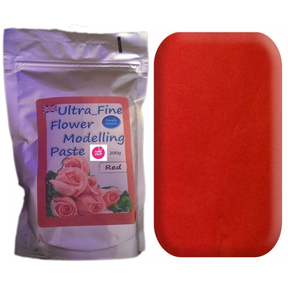 View the 200g RED Ultra Fine Sugar Flower Modelling Paste online at Cake Stuff