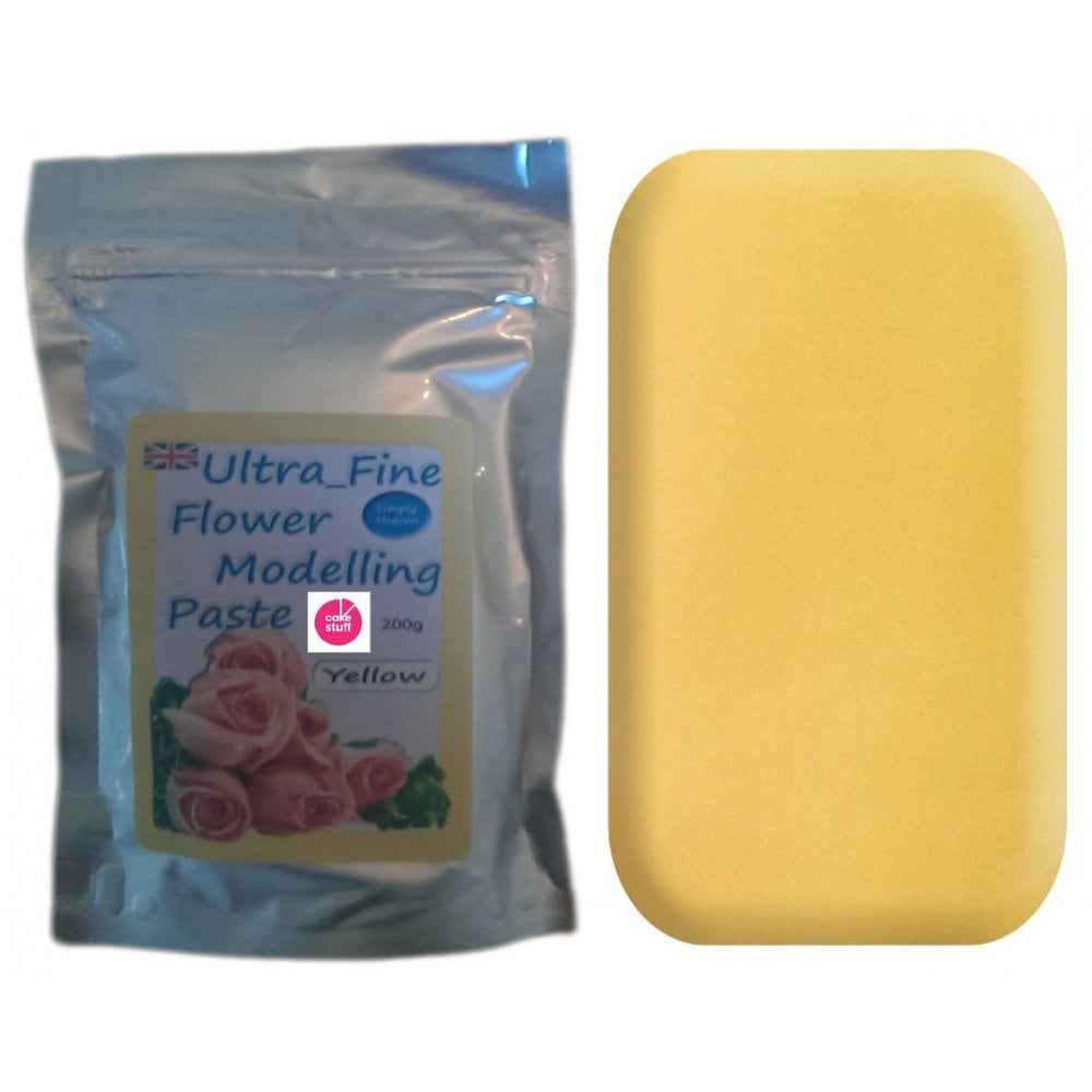 View the 200g YELLOW Ultra Fine Sugar Flower Modelling Paste online at Cake Stuff