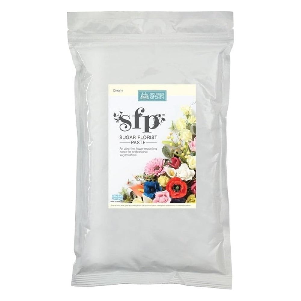 View the bulk 1kg CREAM Sugar Florist Paste SFP flower modelling paste online at Cake Stuff