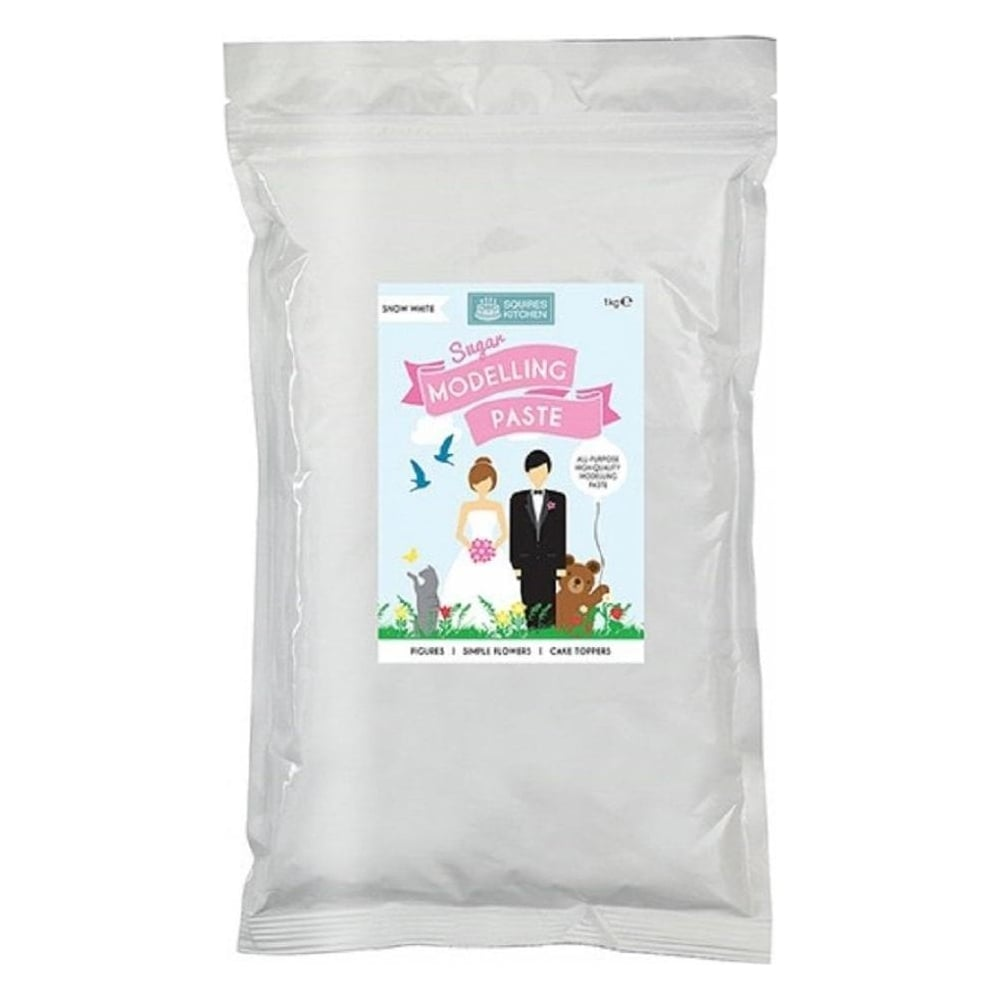 View the bulk 1kg SNOW WHITE Sugar Modelling Paste MMP online at Cake Stuff