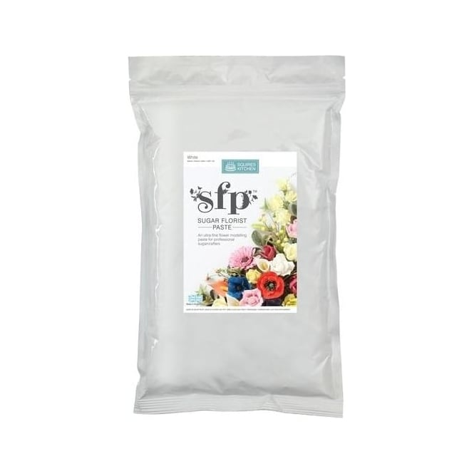 View the bulk 1kg WHITE Sugar Florist Paste SFP flower modelling paste online at Cake Stuff