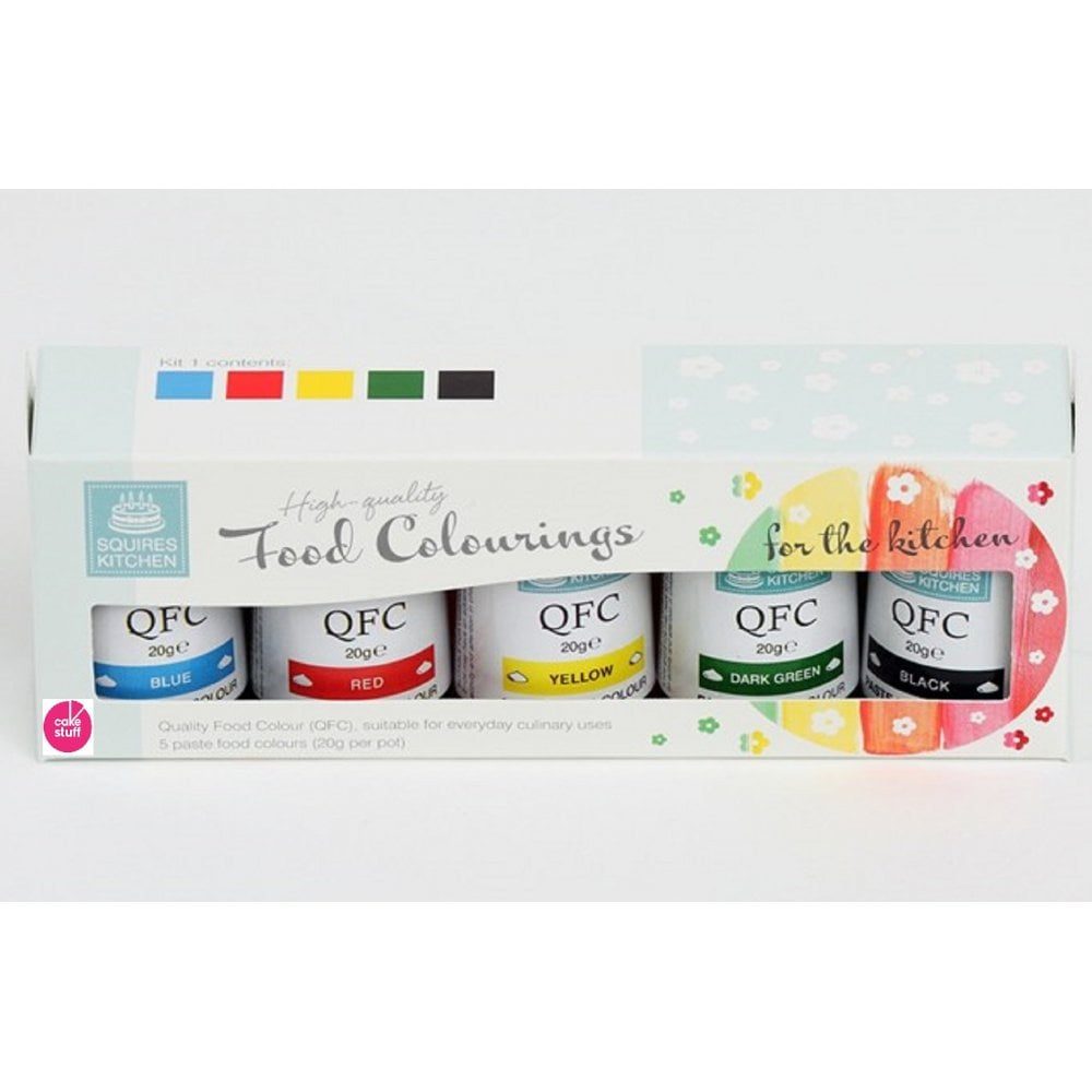 View the KIT 2 - 5 QFC high quality paste gel icing food colourings online at Cake Stuff