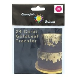 View the 24 carat GOLD LEAF TRANSFER 100% edible decoration sheet online at Cake Stuff