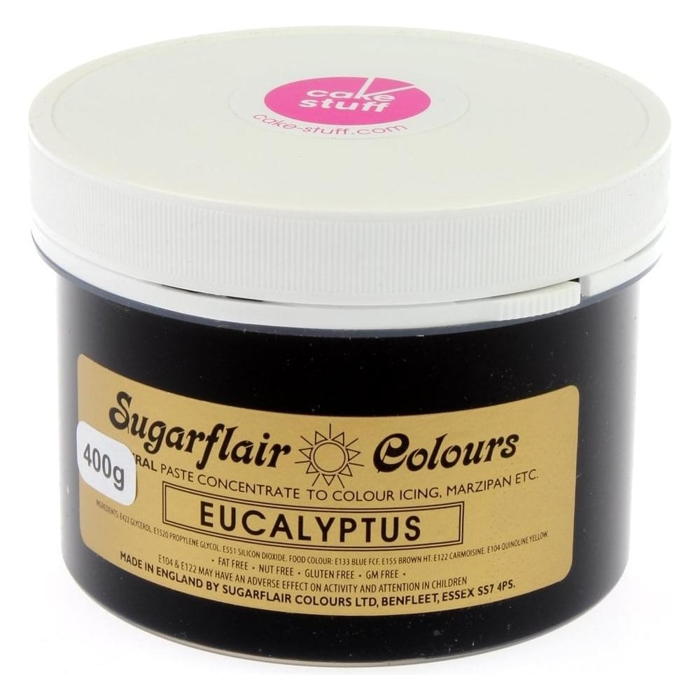 View the EUCALYPTUS Spectral icing paste colouring BULK 400g online at Cake Stuff
