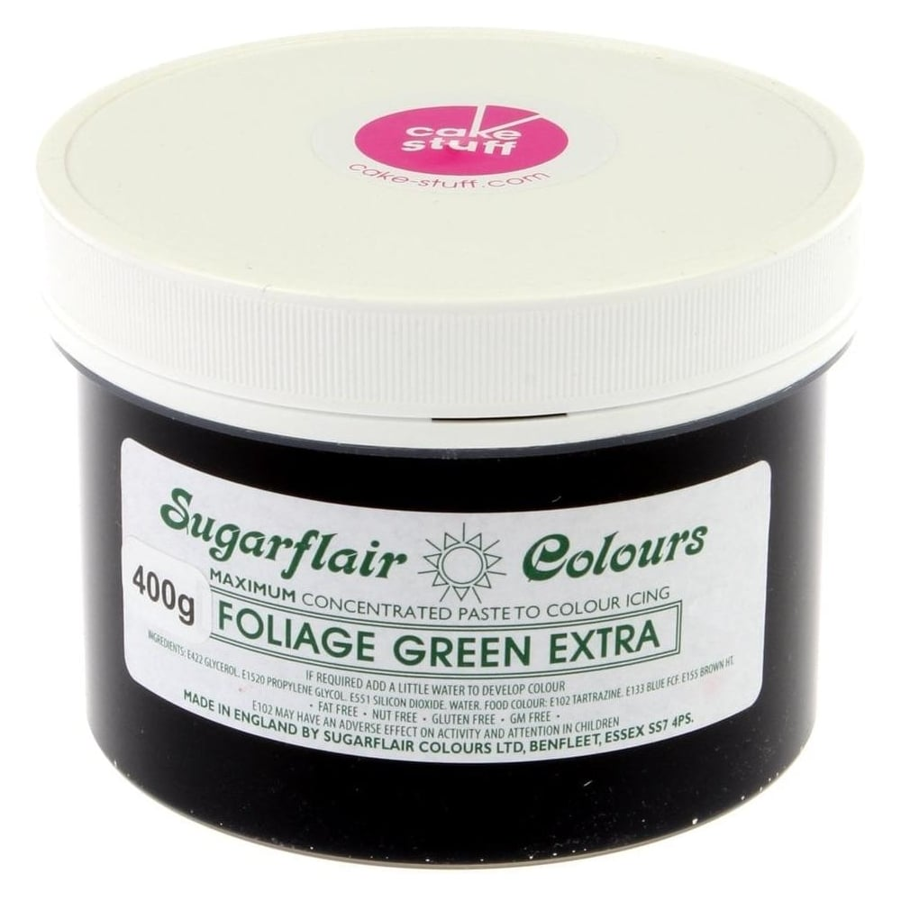 View the FOLIAGE GREEN EXTRA max concentrated icing paste colouring BULK 400g online at Cake Stuff
