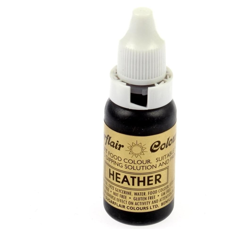 View the HEATHER LILAC / PURPLE Sugartint Droplet icing liquid colouring 14ml online at Cake Stuff