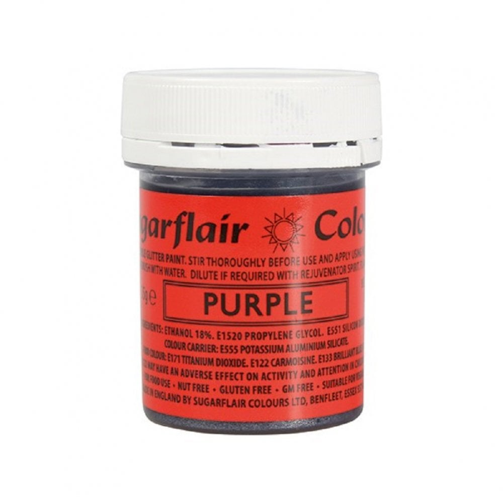 View the PURPLE edible glitter paint liquid icing colouring online at Cake Stuff