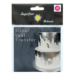 View the SILVER LEAF TRANSFER 100% edible decoration sheet online at Cake Stuff