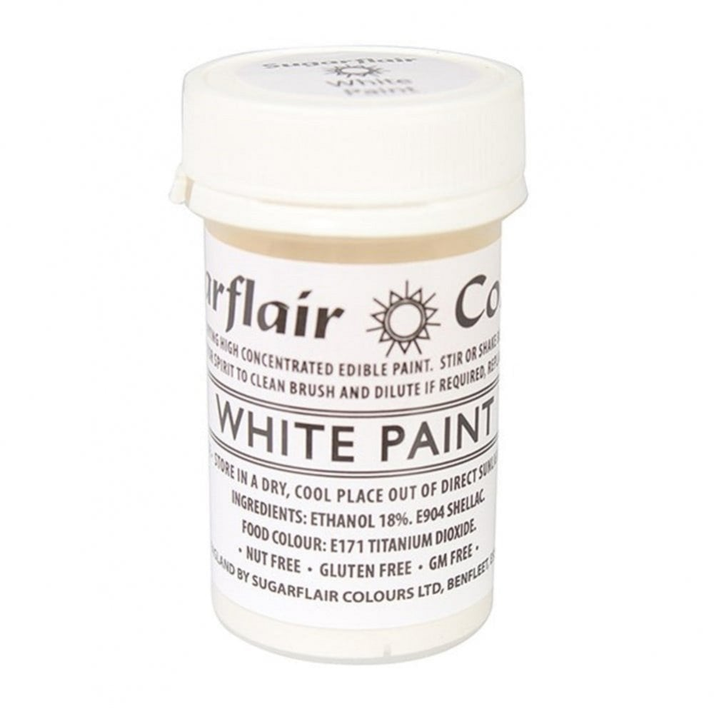 View the WHITE PAINT 100% edible icing colouring 20g online at Cake Stuff