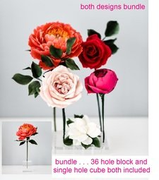View the *LAUNCH PRICE* 36 hole & single hole cube acrylic floral display holders - bundle online at Cake Stuff