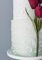 View the MEADOW BREEZE professional cake icing stencil online at Cake Stuff