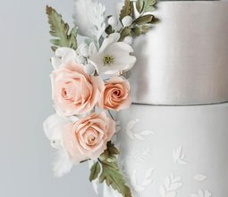 View the MEADOW BREEZE SIDE ELEMENTS professional cake icing stencil online at Cake Stuff