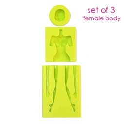 View the ALL 3 FEMALE BODY MOULDS silicone sugarcraft mould set online at Cake Stuff