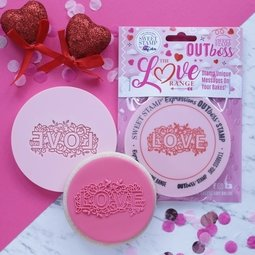 View the FLORAL LOVE OUTboss Love Expressions icing embosser stamp online at Cake Stuff