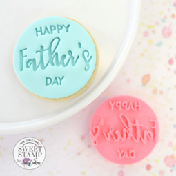 View the Happy Father's Day Cookie/Cupcake Embosser stamp online at Cake Stuff