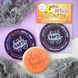 View the HAPPY HAUNTING OUTboss Halloween Expressions icing embosser stamp online at Cake Stuff