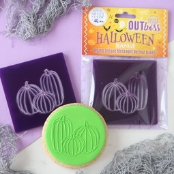 View the PUMPKINS OUTboss Halloween Texture Tile icing embosser stamp online at Cake Stuff