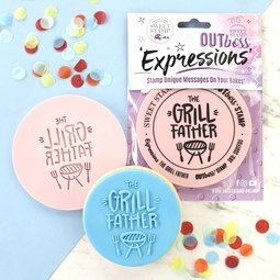 View the THE GRILL FATHER OUTboss Expressions icing embosser stamp online at Cake Stuff