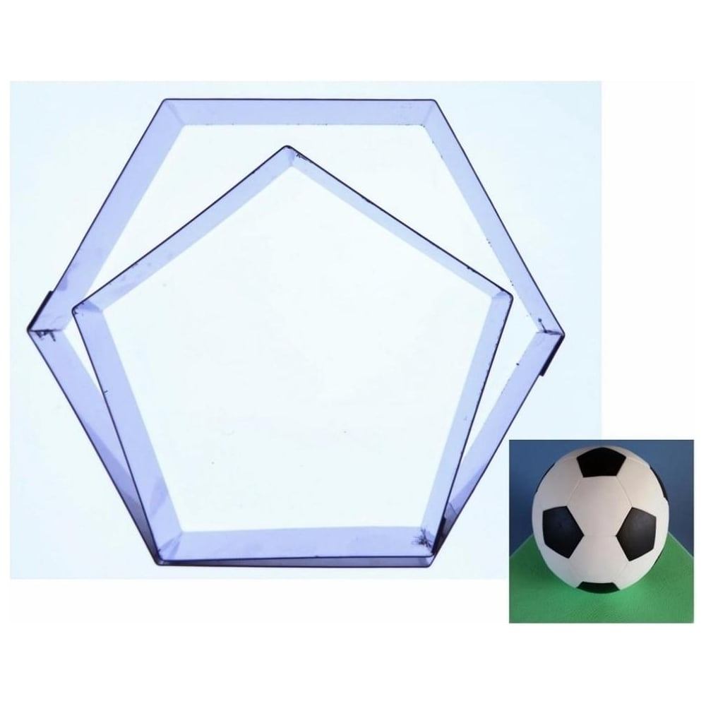 View the 13cm FOOTBALL CUTTER 2 pc stainless steel icing cutter set online at Cake Stuff