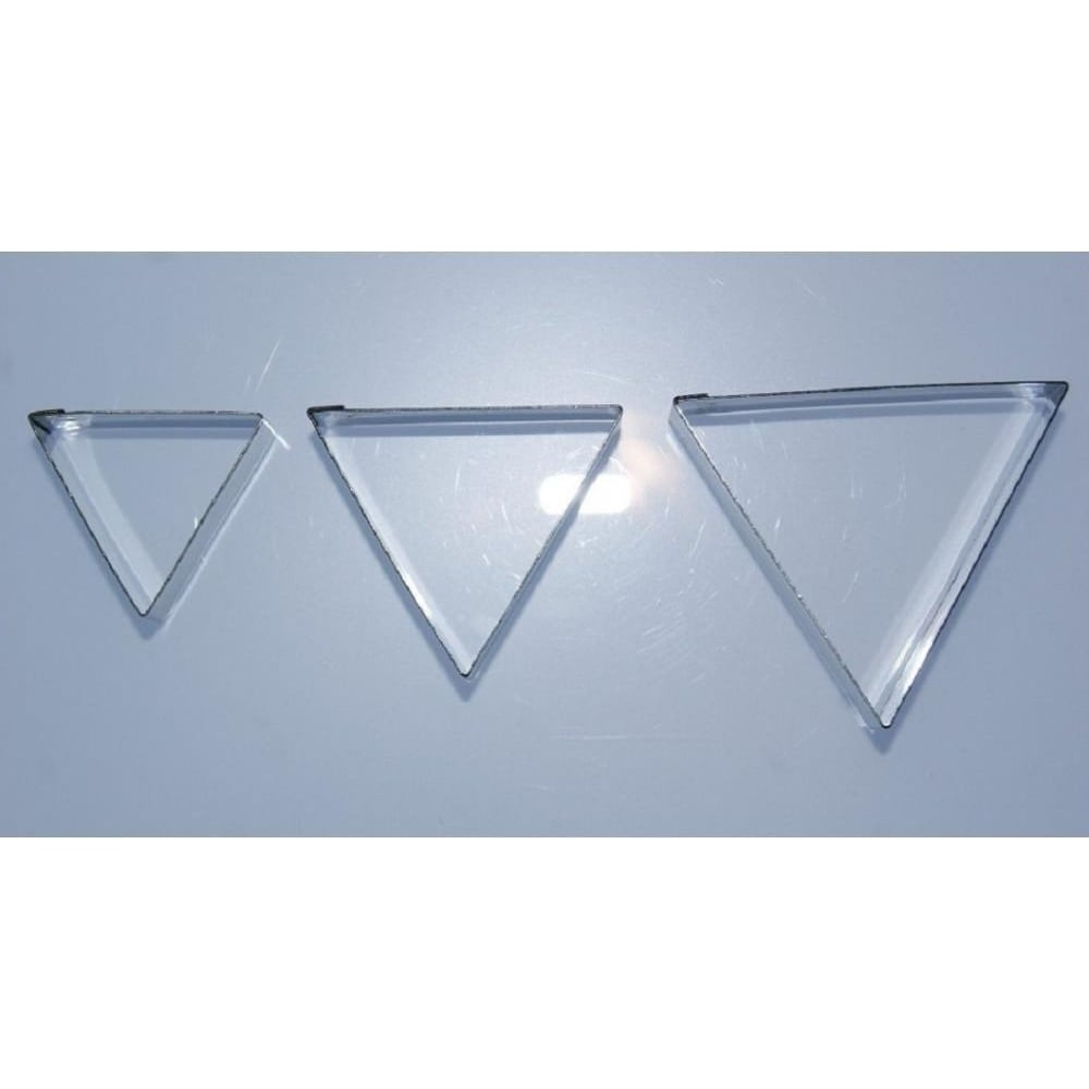 View the 3 pc LARGE TRIANGLE stainless steel icing cutter set online at Cake Stuff